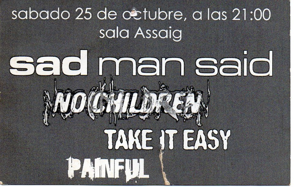 sad man said, no children, take it easy, painful